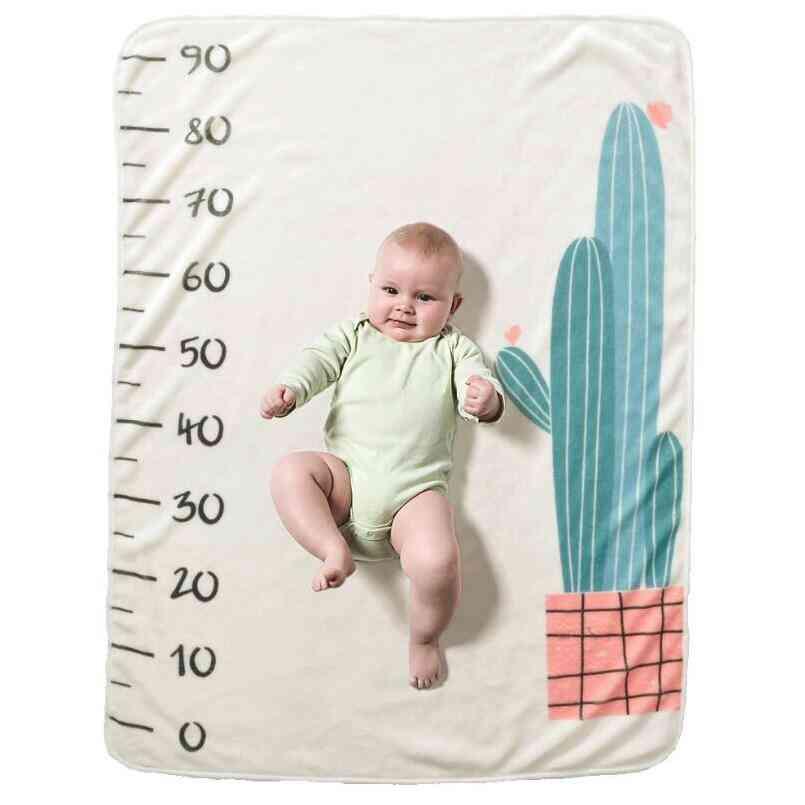 Newborn Baby Monthly Growth Milestone Background Blanket, Photo Props