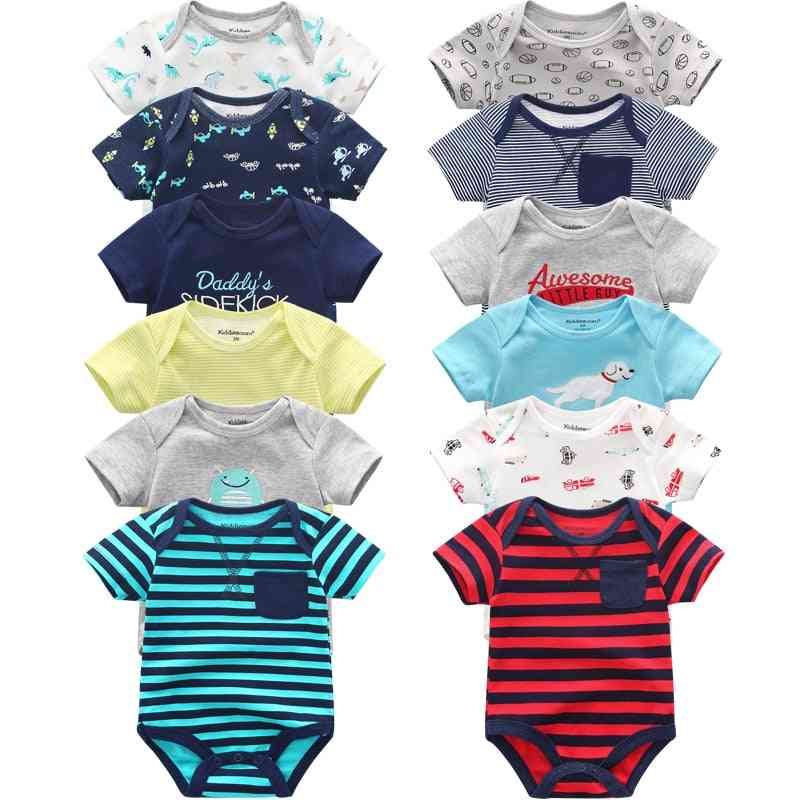 Super Cotton Baby Bodysuit, Short With Sleeve Overalls