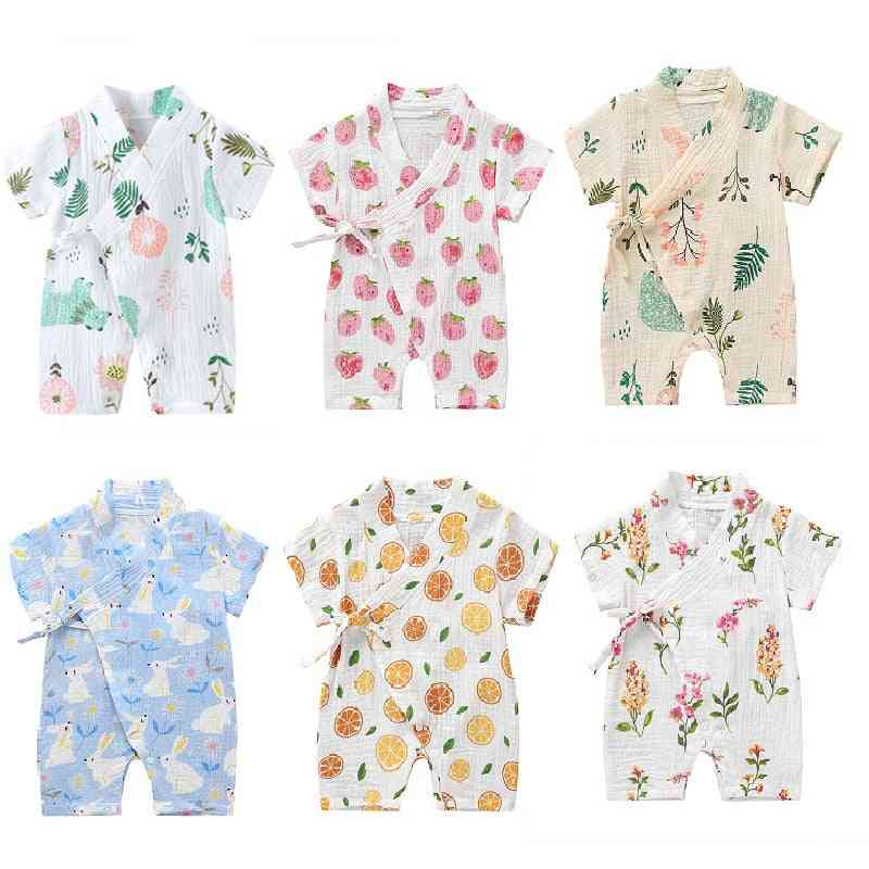 Summer Clothing Rompers, Short-sleeved Floral Print Jumpsuit