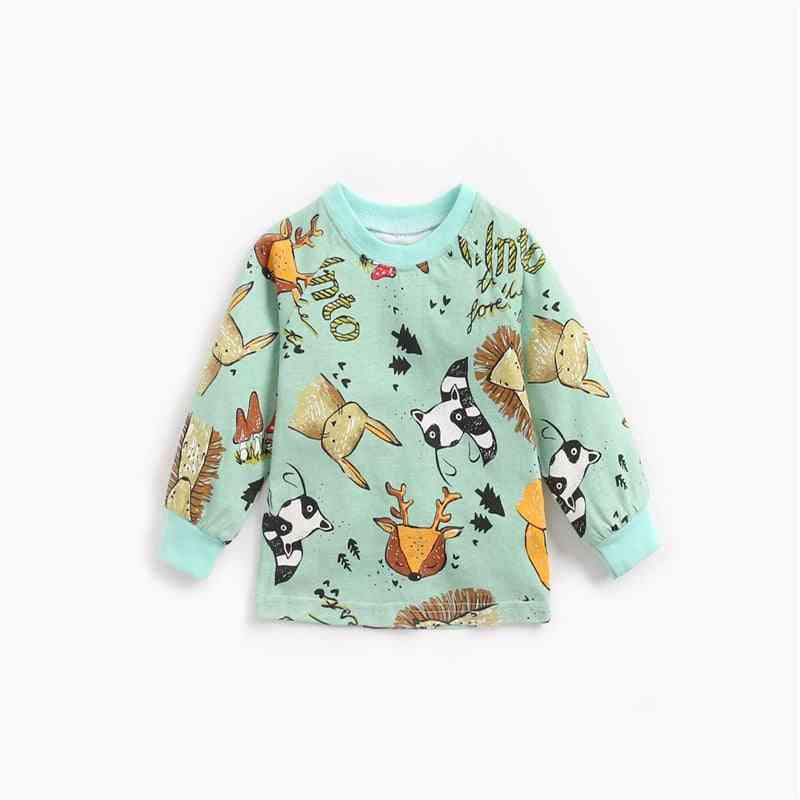 Cartoon Print, Cute Pullover For Kids