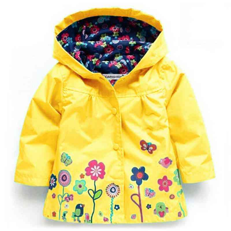 Autumn/winter Warm Hooded Jacket For Baby Girl