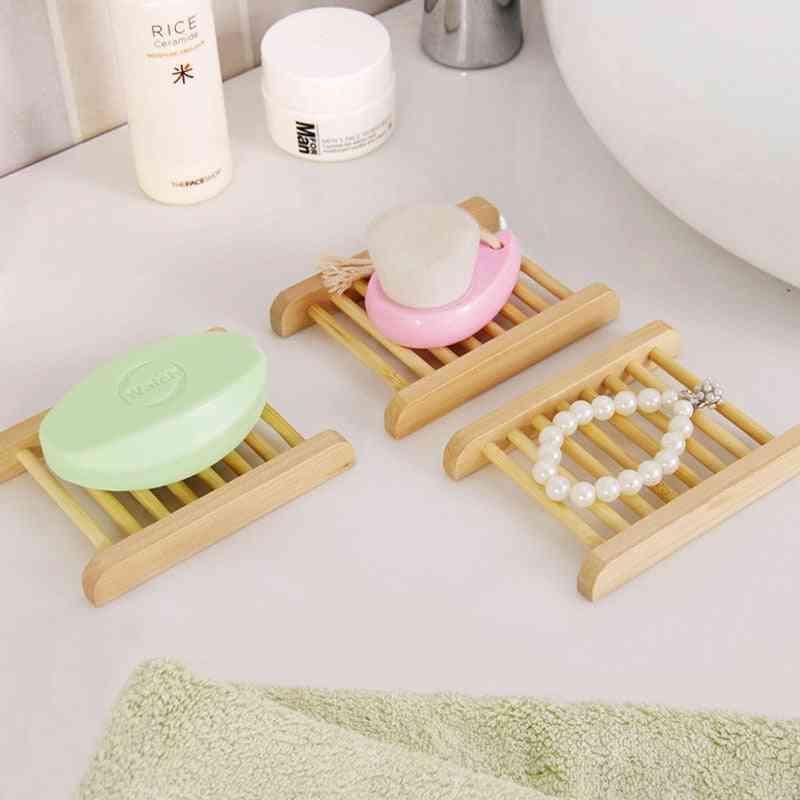 Natural Wood Soap Dish Holder-drying Rack