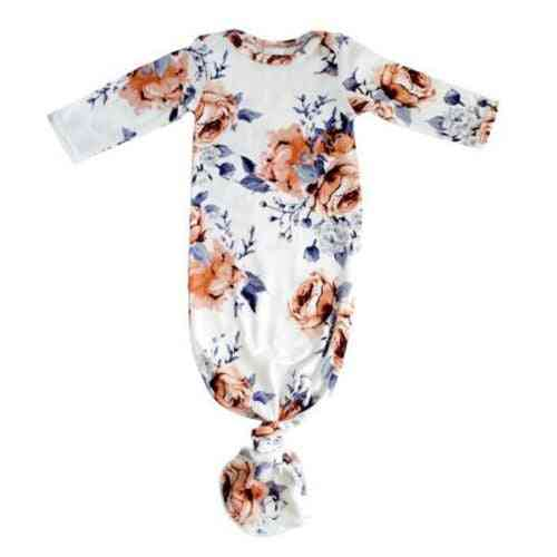 Floral Nightgown-cotton Long Sleeve Sleepwear For Baby