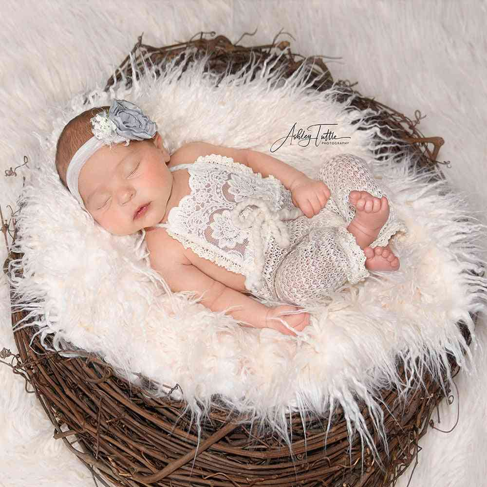 Soft Fur Blankets For Newborn Photography Props