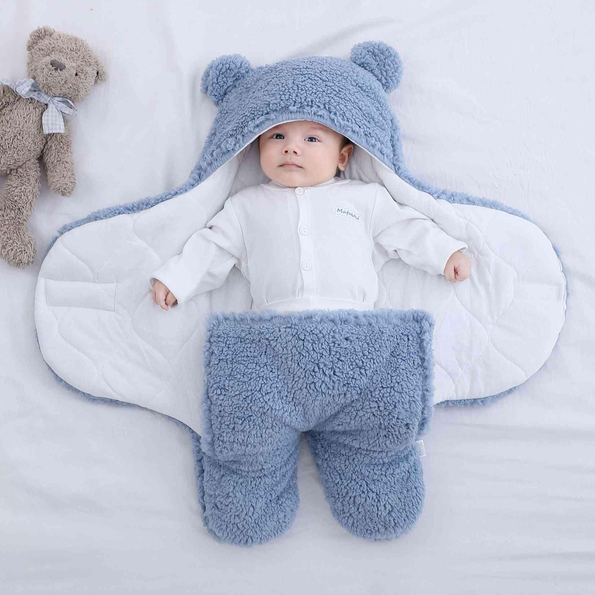 Ultra-soft, Fluffy Newborn Blanket, Sleeping   Swaddle Wrap