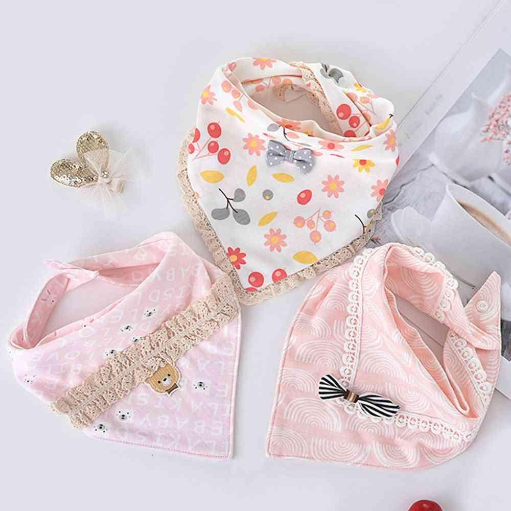 Special Baby Bibs Boy / Girl Cotton Absorb Burp Cloth, Triangle Scarf Newborn Princess Accessories