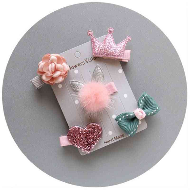 Lovely Mixed Hairpin, Hair Clips -solid Floral Bow