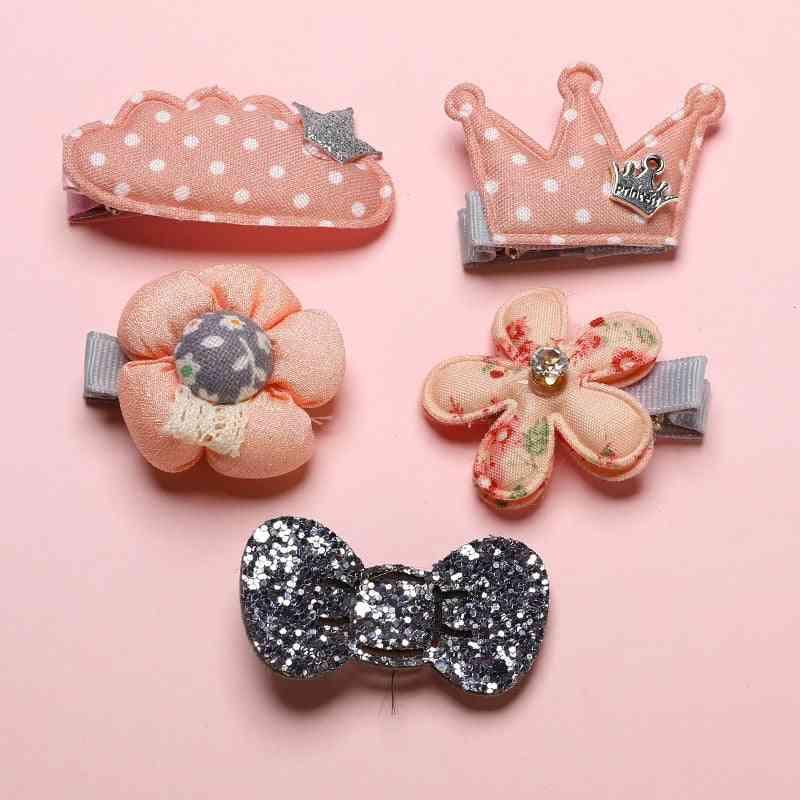 Girl Handmade Hair Accessories, Flower Bowknot Hairpin