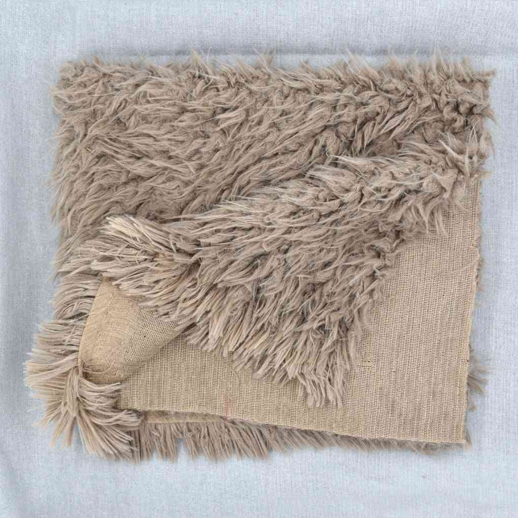 Newborn Baby Soft Faux Fur Photograph Prop Blanket Infant Sleeping Swaddle Blankets
