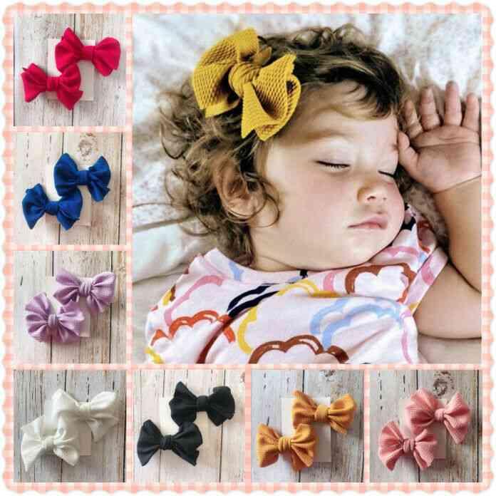 Girls Hair Pin Bow Clips -headwear Ribbon Bowknot Barrettes
