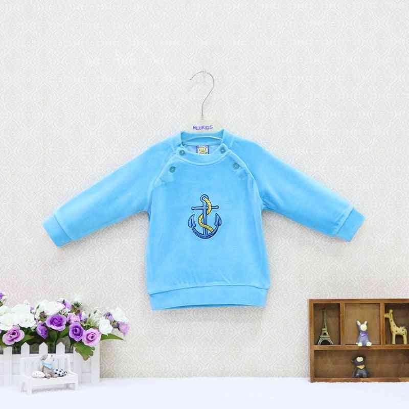Baby Velour Double Breasted Blouse And Clothes - Kids Long Sleeve Clothing Christmas