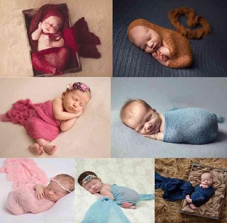 Newborn Photograph Props, Cotton Wrap Stretchable Blanket