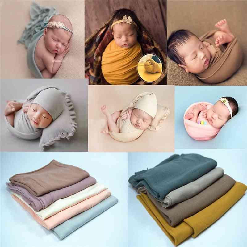 Newborn Photography Props Blanket, Baby Photo Wrap Swaddling