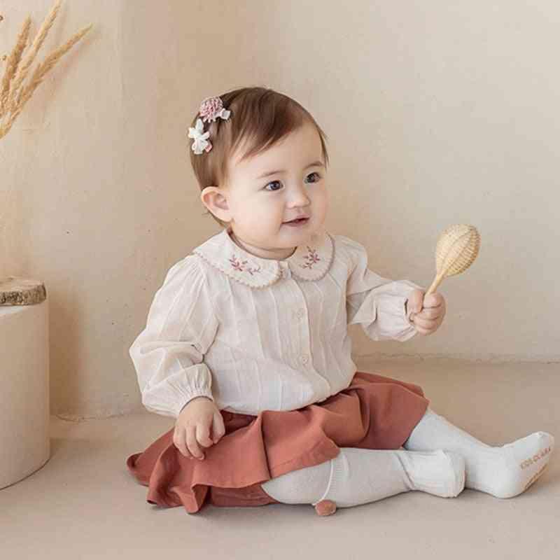 Autumn Cute Peter Pan Blouse Shirt For Newborn Baby