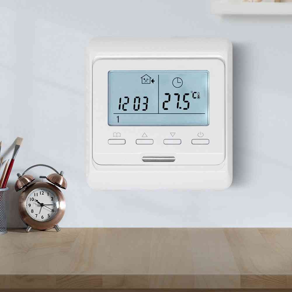 Lcd Weekly Programmable Room Air Thermostat With Temperature Sensor