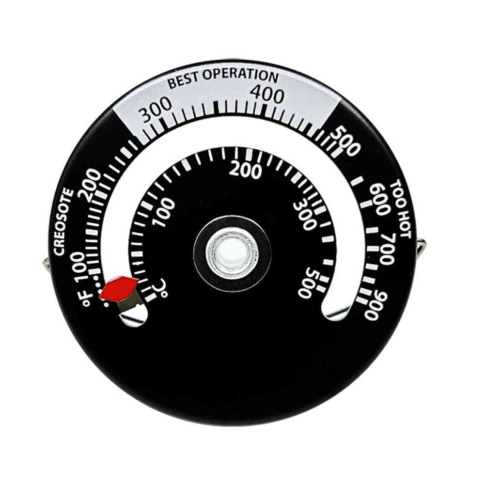 Magnetic Thermometer For Home Fireplace With Large Display