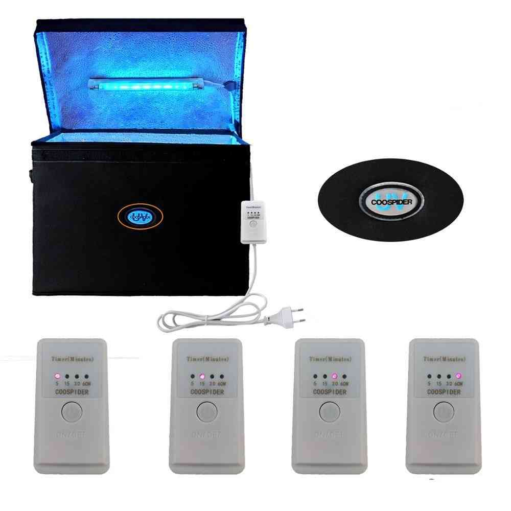 9.4 Gallons Uv Lamp Bag Ultraviolet Box With Uvc Linear Light