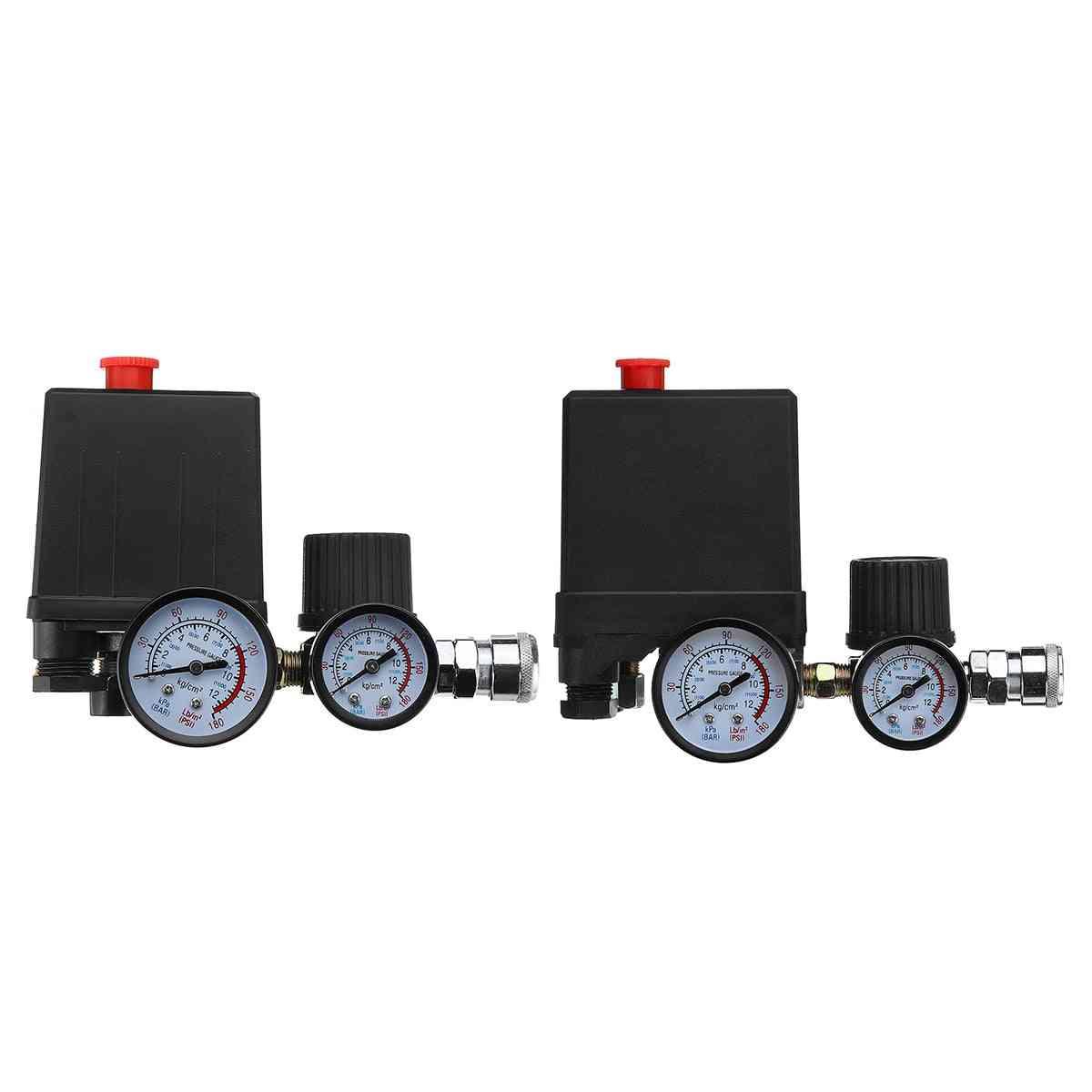 Air Compressor Pump, Pressure Control Switch, 4-port Regulator