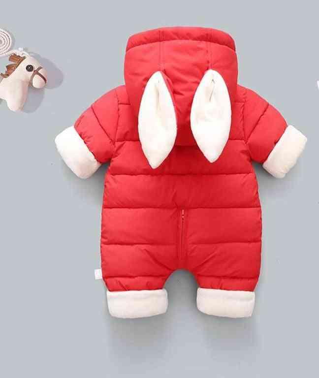 Winter Thicken Children Snowsuit, Cotton-padded Baby Girl Clothes