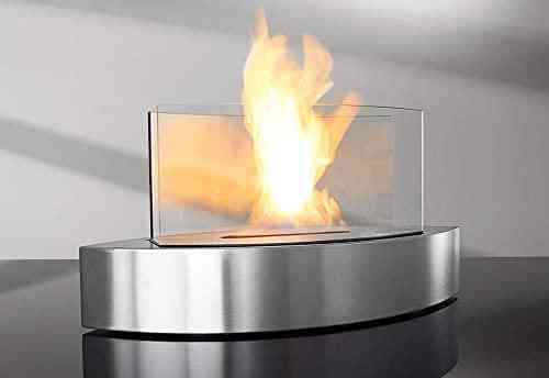 Bio Ethanol Fireplace - Stainless Steel Burner Design Without Remote Control