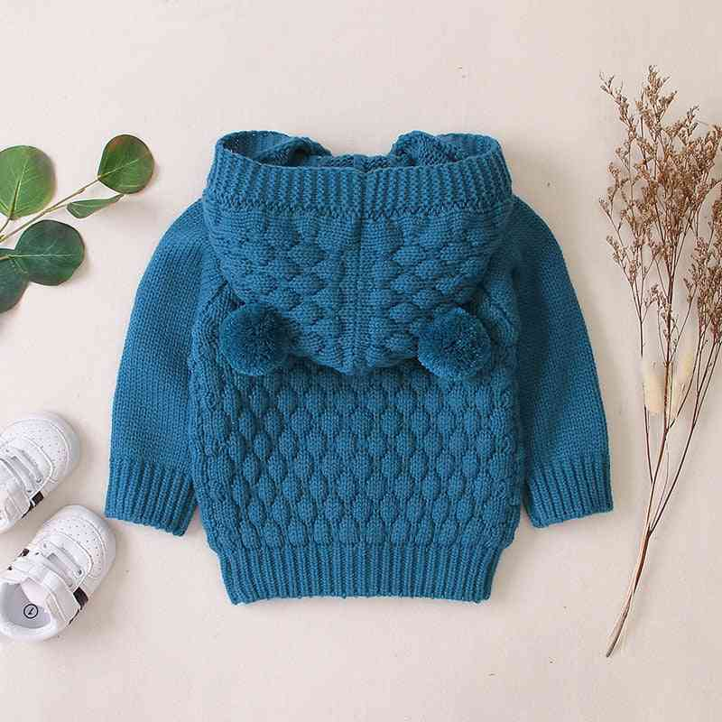 Autumn Infant Hooded Knitting Jacket For Baby Clothes - Newborn Coat For Baby Jacket Winter Kids Outerwear Coat