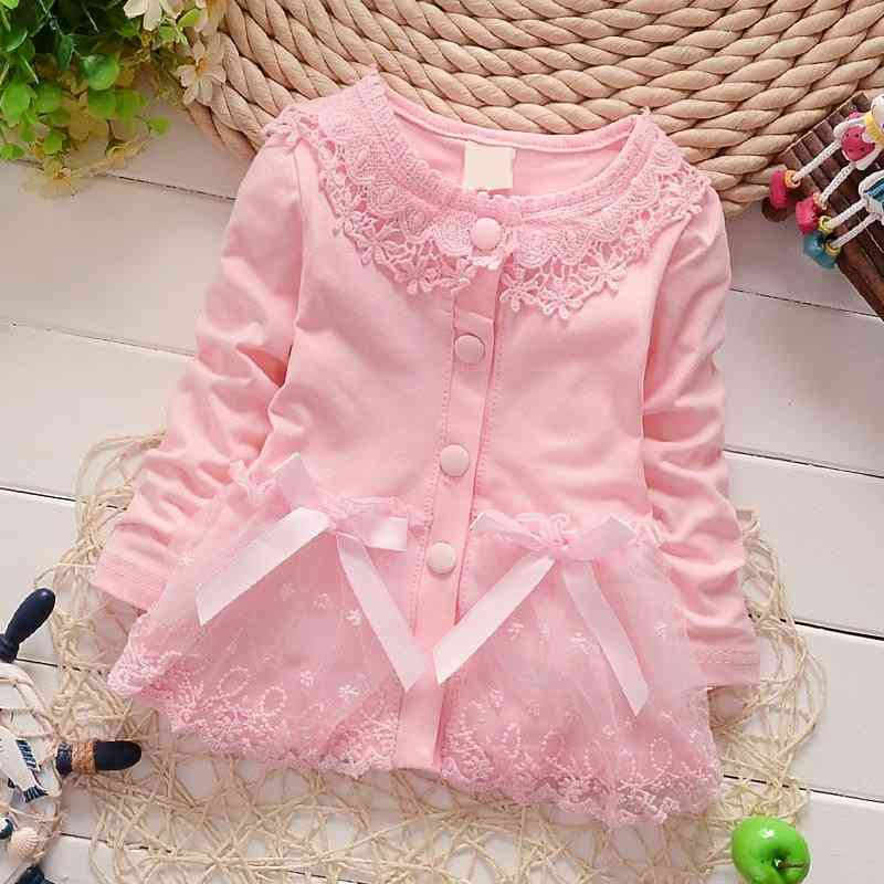 Girl Lace Coats, Cotton Coat Long Sleeves Blouses