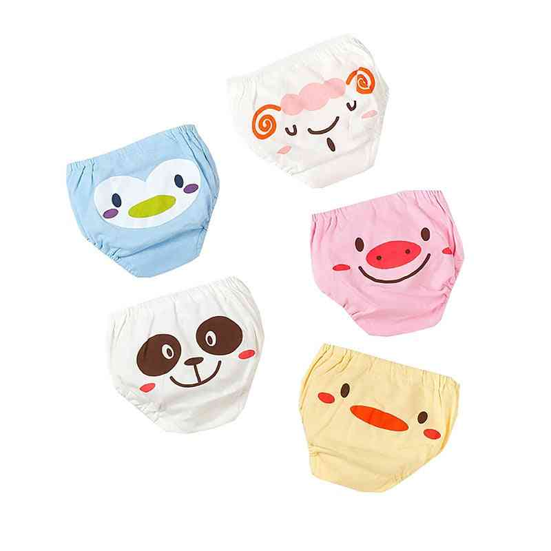 Cute Cartoon Animal Baby Underwear, 5pc/set Breathable Underpants