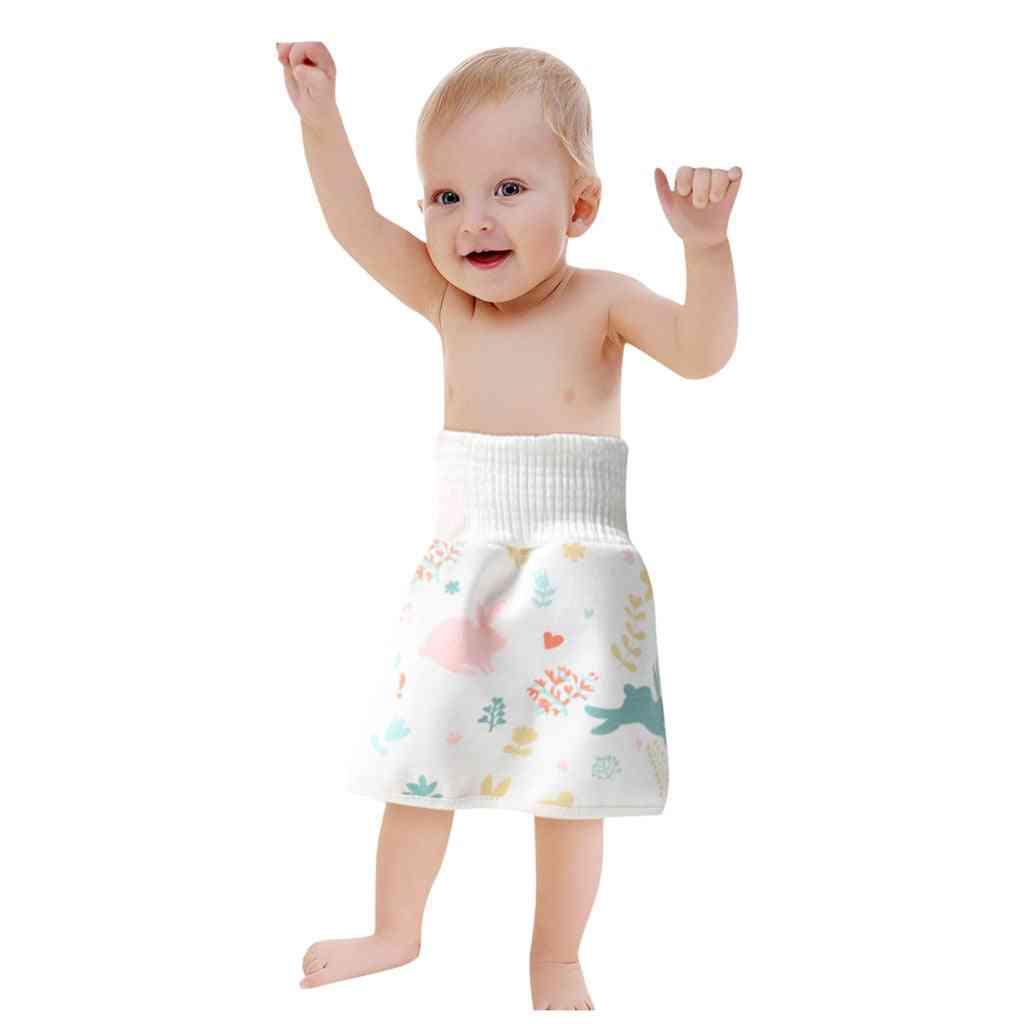 High Waist Elastic Training Skirt, Waterproof For Baby