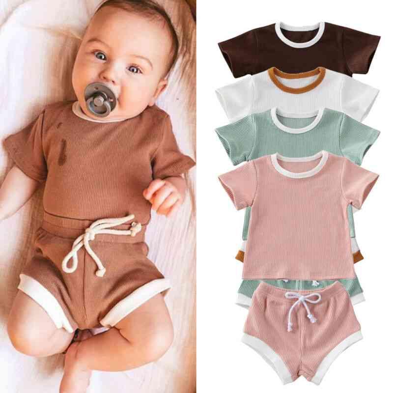 Baby  Clothes, Short Sleeve Tops T-shirt+shorts Pants