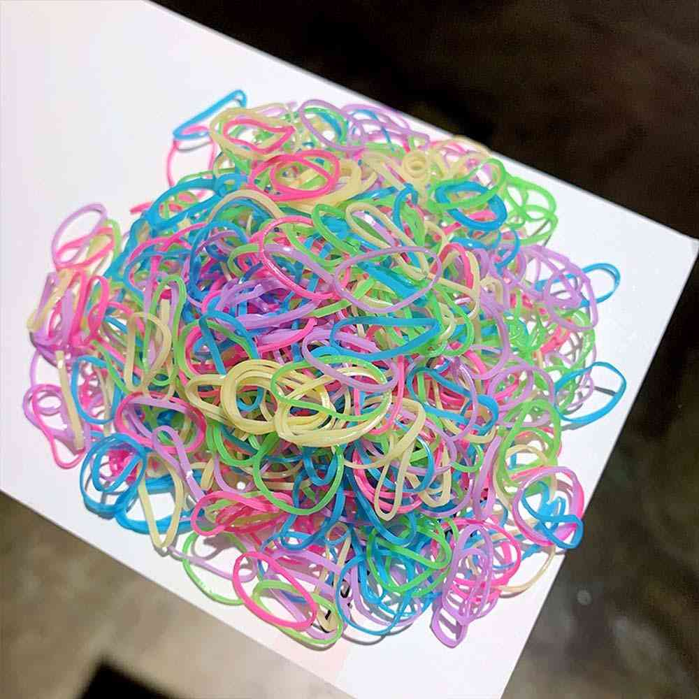 Girls Colorful Hair Rope, Small Disposable Rubber Bands