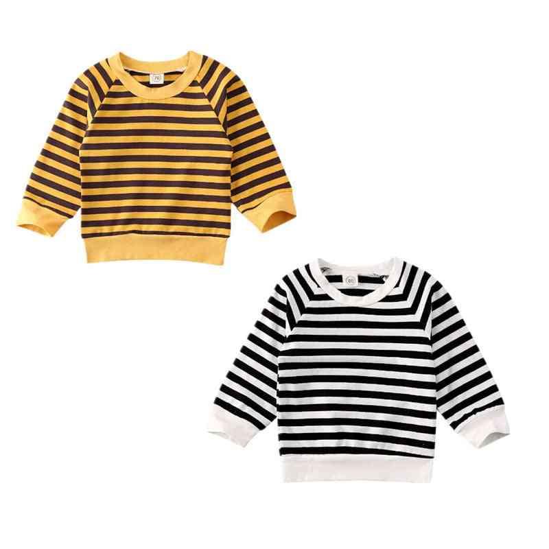 Striped Pattern, Pullover Sweatshirt-winter Clothing