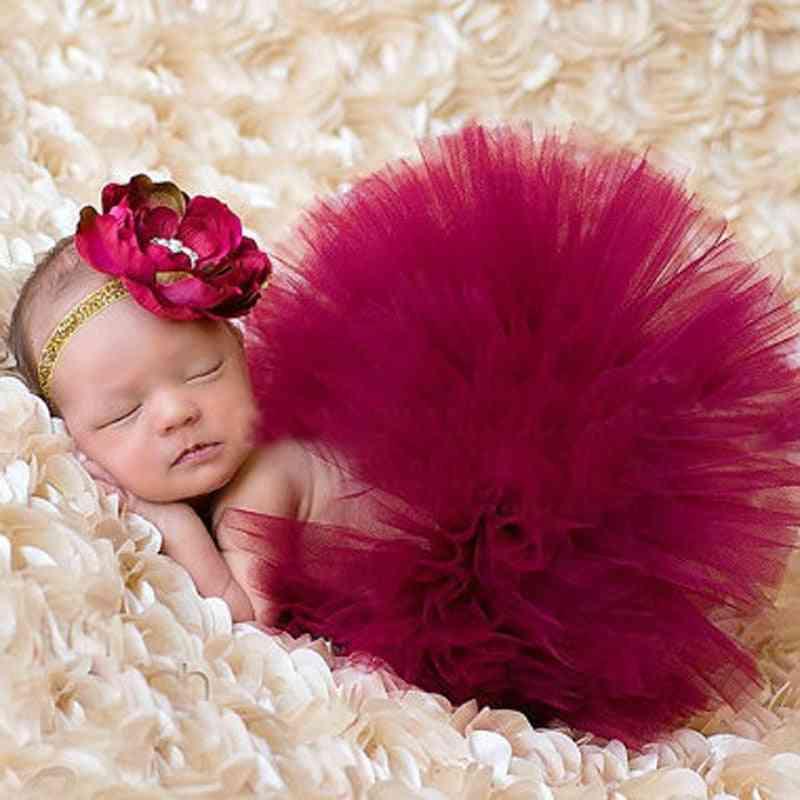 Newborn Outfit-photography Props, Princess Tutu Skirt With Matching Headband