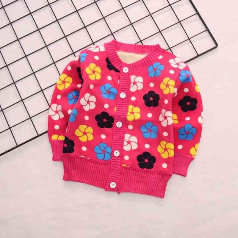 Autumn & Winter Knitted Plus Velvet Warm Baby Sweate Outerwear Coats, Newborn / Sweater