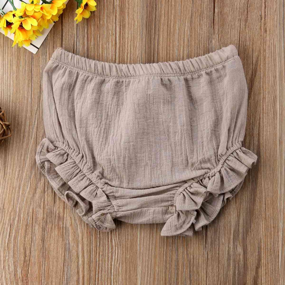 Infant Baby Boy Girl Ruffles Shorts, Cotton Nappy Diaper Covers Cute Panties