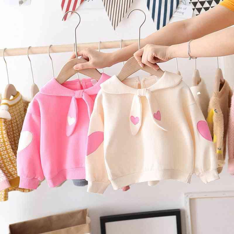 Baby Girl Spring & Autumn Sweet Love Cute Cotton Long Sleeve Polka Tops T-shirts