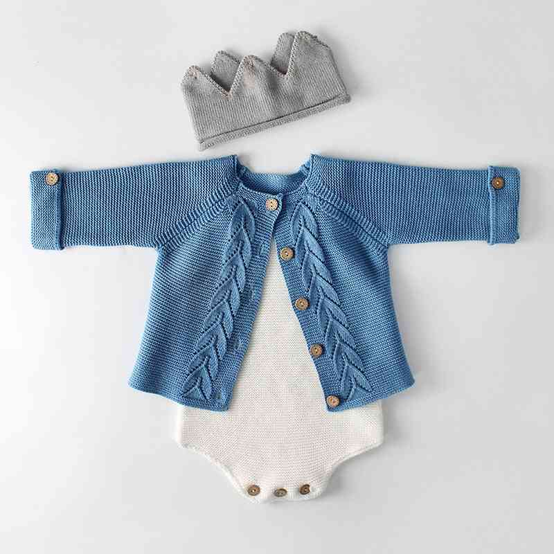 Baby Sweater, Autumn Wear A Leaf Knitted Jacket