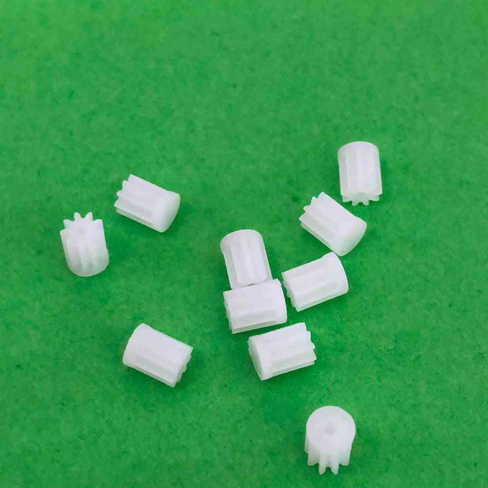 10pcs/ K021y/91a Mini Plastic Motor Shaft Gear Sets -9 Tooth, 1mm Hole Diameter For Helicopter Robot