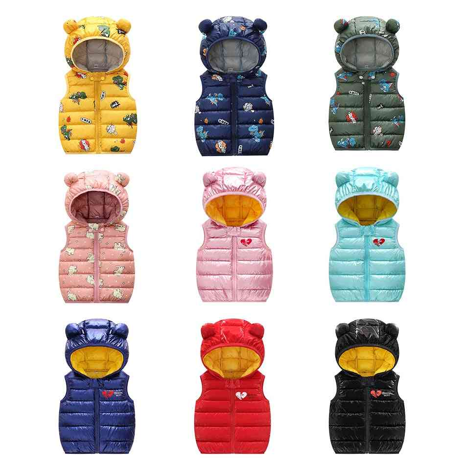 Winter Down Clothes, Hooded Warm Vests