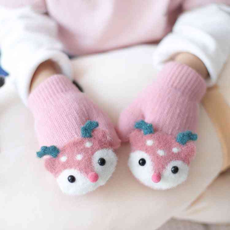 Baby Gloves, Winter Knit Wool Keep Finger Warm