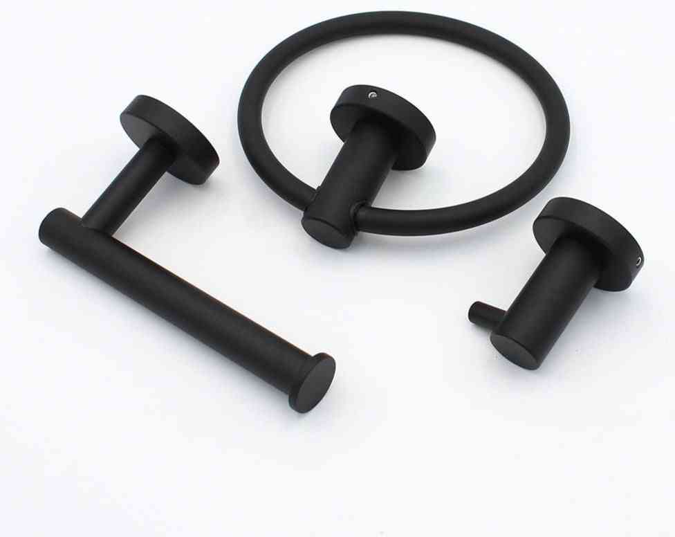 304 Stainless Steel, Wall Mounted Towel Ring And Cloth Hanger