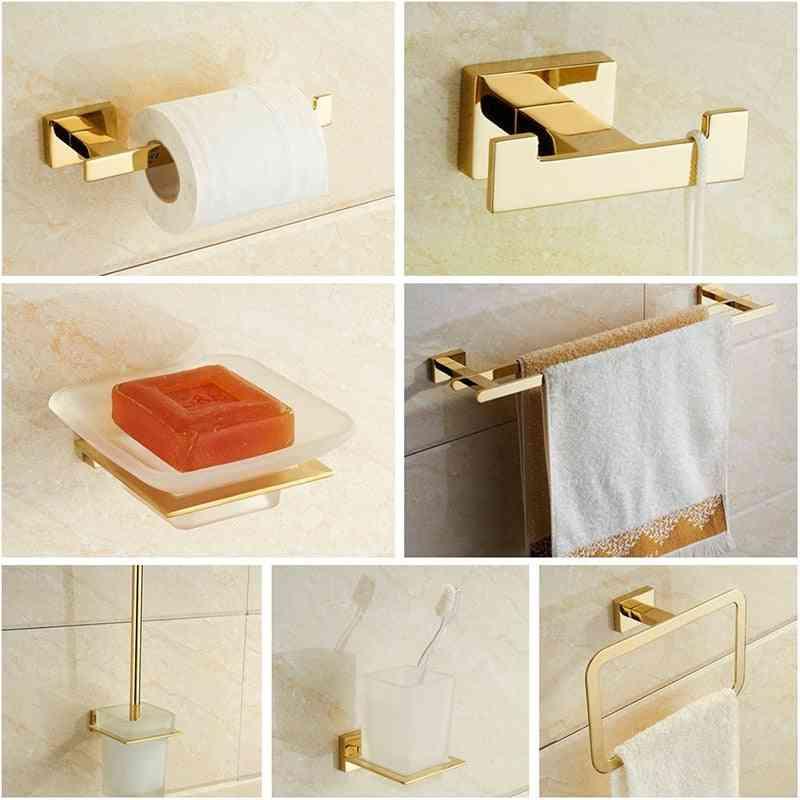 Stainless Steel Towel Rack, Toilet Brush Holder, Soap Dish-bathroom Hardware Set