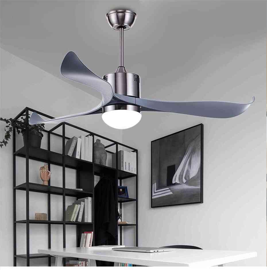 Nordic Style, Remote Control Ceiling Fan With Lights