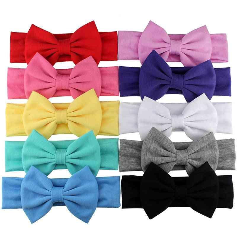 Elastic Bowknot Design-cotton Hair Band For Baby