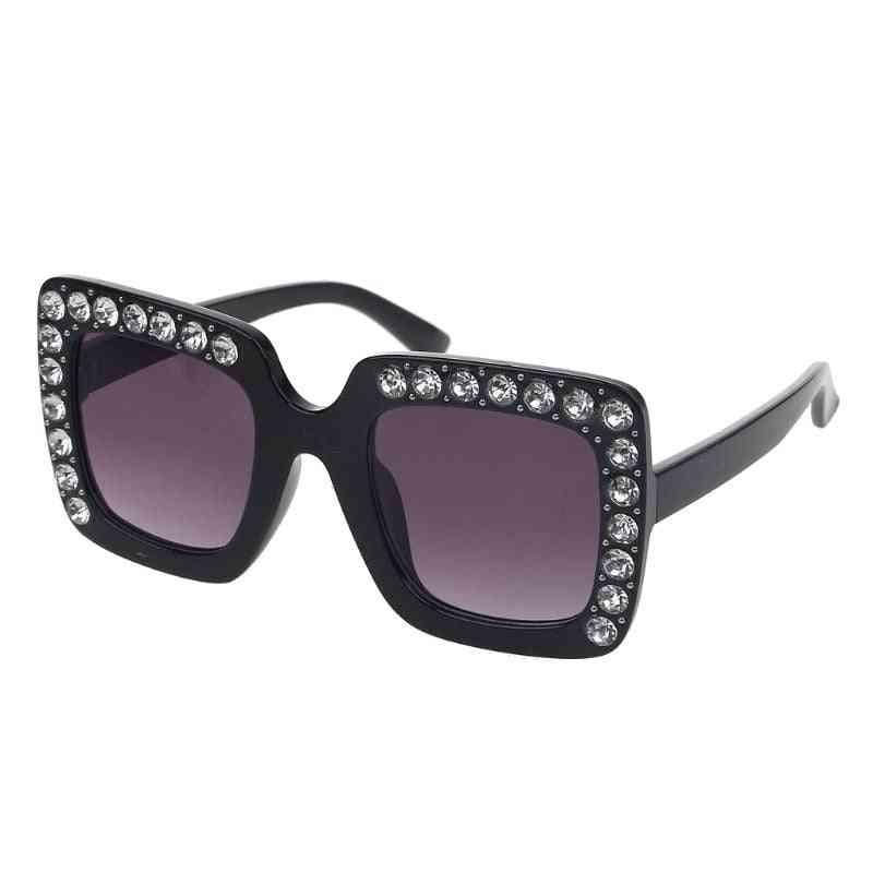 Luxury Rhinestone Square Sun Glasses