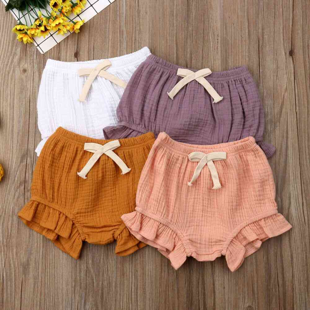 Newborn Baby Girl Cotton Ruffle Shorts- Nappy Diaper Cover