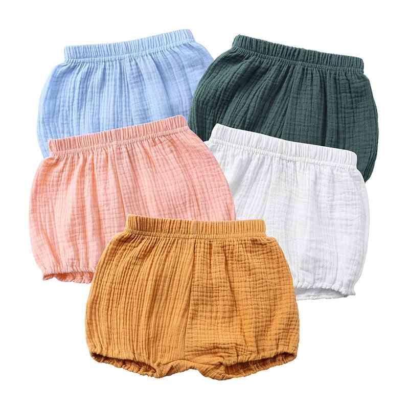 Elastic Cotton Short Pants