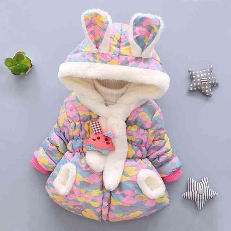 New Fashion Winter Newborn Plus Velvet, Cute Cotton Jacket
