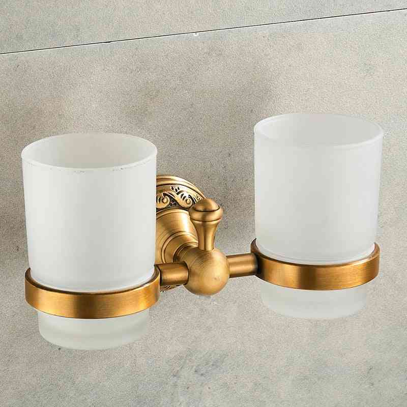 Toothbrush Double Cups Holder