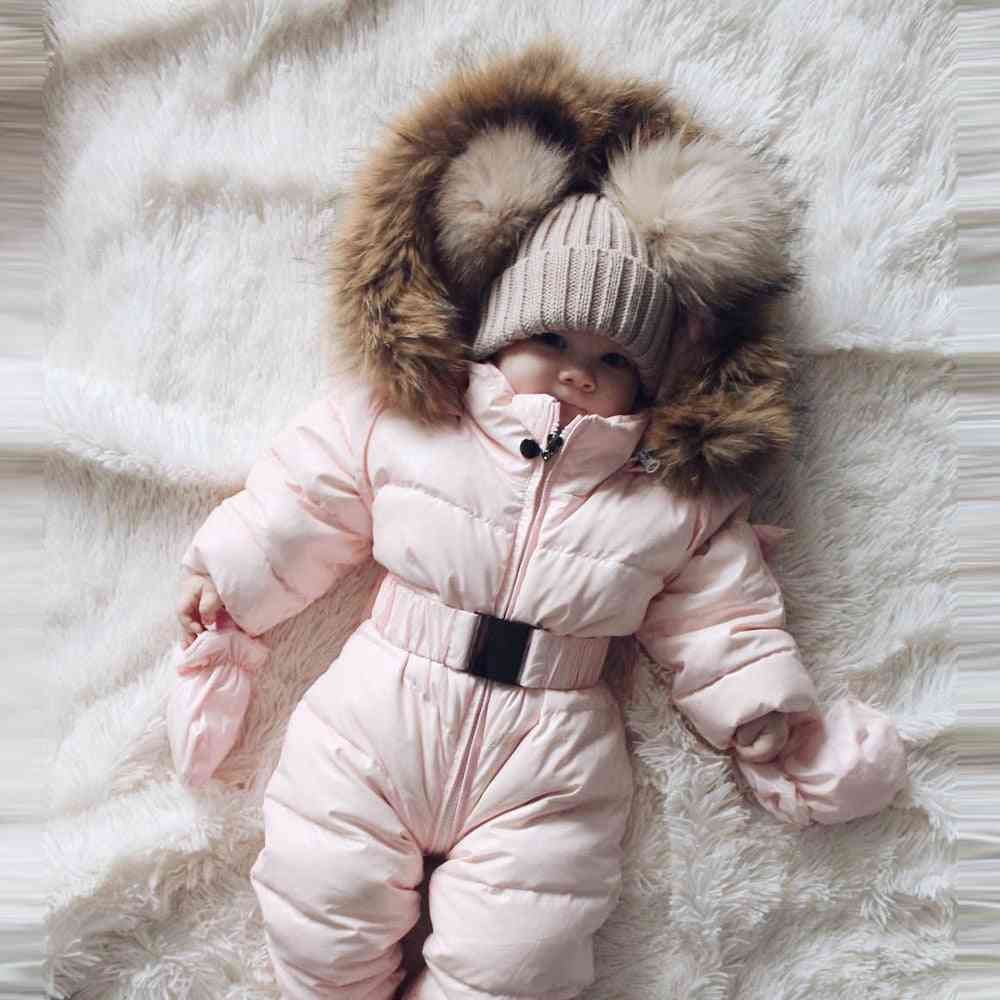 Winter Clothes Infant Baby Snowsuit Romper Jacket Hooded Jumpsuit Warm Thick Coat Outfit