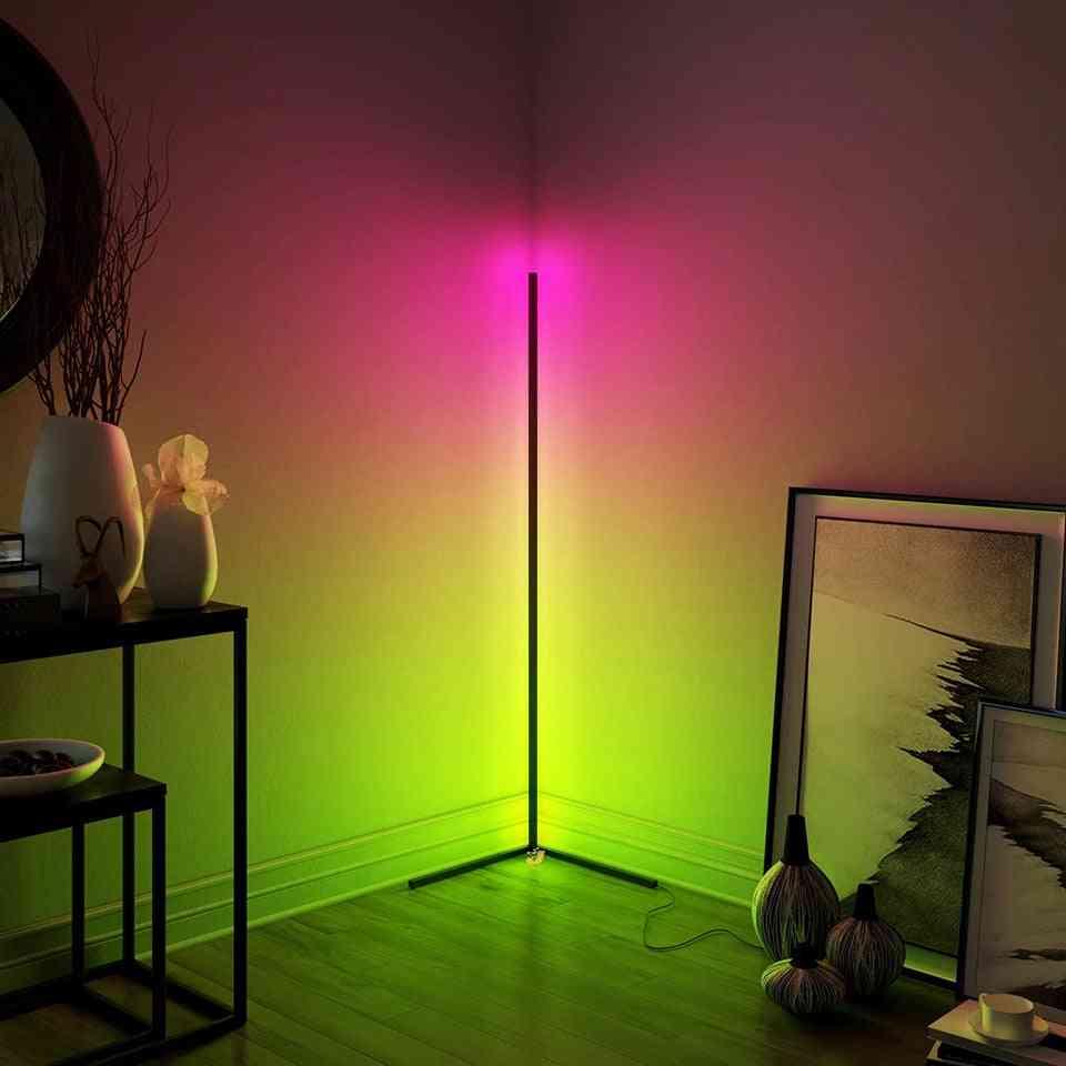 Led Minimal Corner Floor Lamp For Living Room